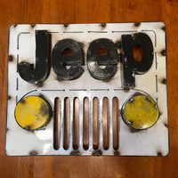 Jeep 3D Recycled Metal Sign 13x16x3