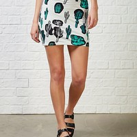 Motel Kimmi Cactus Print High Waisted CoOrd Skirt | ARK Clothing