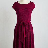 Mid-length Short Sleeves A-line Charm Committee Dress