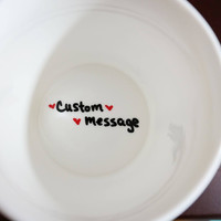 Custom Message Coffee Mug, Personalized Gift