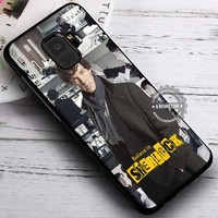 Collage Quotes Detective Face Sherlock Holmes iPhone X 8 7 Plus 6s Cases Samsung Galaxy S9 S8 Plus S7 edge NOTE 8 Covers #SamsungS9 #iphoneX