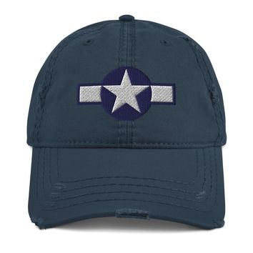 WW2 Air Force Roundel Distressed Dad Hat