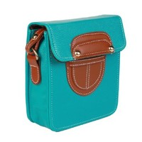 JAVOedge Square Mini Messenger Bag fits Point and Shoot Cameras (Turquoise)