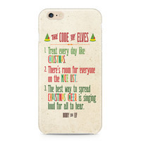 Buddy the Elf Phone Case, Code of Elves Phone Case, Christmas Cheer Phone Case, Holiday iPhone, Samsung Galaxy