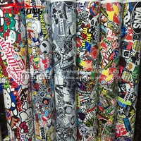 Cool Bomb Vinyl Sticker on Car DIY Graffiti Sticker Bomb Wrap Car Stickers Motorcycle Accessories full car decals Car Styling