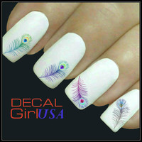 Nail Art Decals 32 Feather Nail Decals