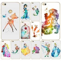 038AA  Beauty of the beast stitch Hard Transparent Cover Case for Huawei p8 P20 honor 9 Lite mate 10 pro y6 y5 2017