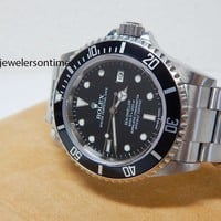 2009 Rolex Sea Dweller 16600 Complete Set Box & Card Helium Escape Valve