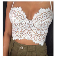 Hot Sale Hot Deal Thick Long Summer Sexy Backless Lace Zippers Spaghetti Strap Tops False Eyelashes [4917768452]