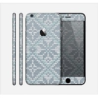 The Knitted Snowflake Fabric Pattern Skin for the Apple iPhone 6 Plus