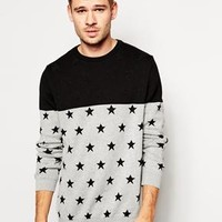 River Island   River Island Sweater with Star Print at ASOS