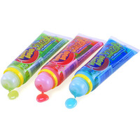 Hubba Bubba Squeeze Pop Liquid Candy Tubes - Sour Flavors: 18-Piece Bo