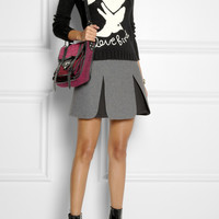 Moschino Cheap and Chic Love Bird intarsia knitted sweater NET-A-PORTER.COM