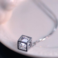 Women Crystal Necklace + Gift Box