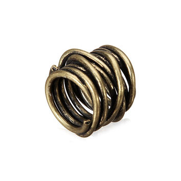 Gold Wrapped Cage Ring
