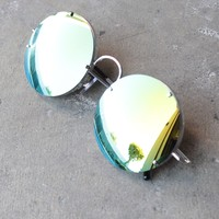 spitfire poolside in silver / gold mirror lens