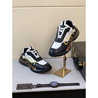 Men Fashion Boots fashionable Casual leather Breathable Sneakers Running Shoes-490