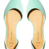 New Look 2 Part Pointed Flat Shoes