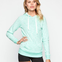 Full Tilt Womens Essential Marled Hoodie Mint  In Sizes