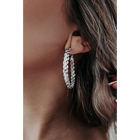 I Know You Earrings: Silver