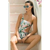 TOUCHÉ Jade One-Shoulder Monokini - Size Small