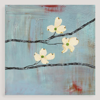 """Dogwood on Blue III"" by Laura Gunn - World Market"