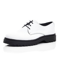River Island MensWhite chunky sole formal shoes