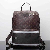 LV Women Casual School Bag Cowhide Leather Backpack I-MYJSY-BB