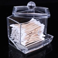Acrylic Makeup Cotton Swabs Acrylic Cosmetic Storage