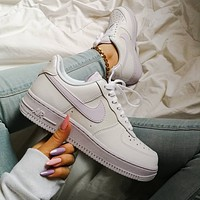 Nike Air Force 1 AF1 Taro purple powder light purple air force No.1 women's board shoes