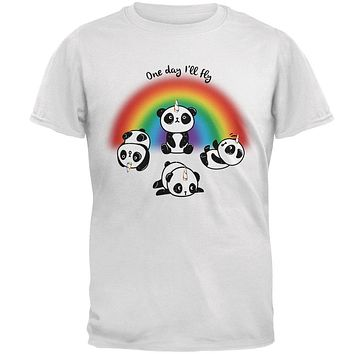 Panda Pandicorn One Day I'll Fly Mens T Shirt