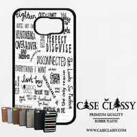 5sos songs Samsung Galaxy S6 Edge Plus Case CaseClassy
