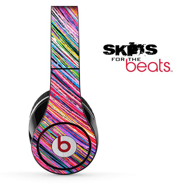 Image of Abstract Color Strokes Skin for the Beats by Dre Solo, Studio, Wireless, Pro or Mixr