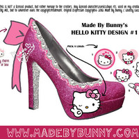 Made to Order Hello Kitty Heels / Pumps / Stilettos by MadeByBunny