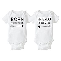 TBONTB 2pcs Twins Baby Rompers Lettler Cotton Short Sleeve Baby Boy Clothes Fahion New Born Baby Clothes Roupas de Drop Shipping