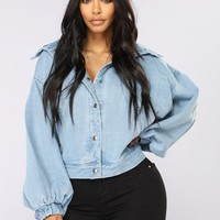 Trixie Girl Denim Jacket - Medium Wash