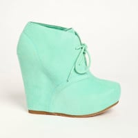 Lace up Desert Boot Wedges