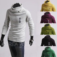 Turtle Neck Slim Fit Pull Over Sweat Shirt