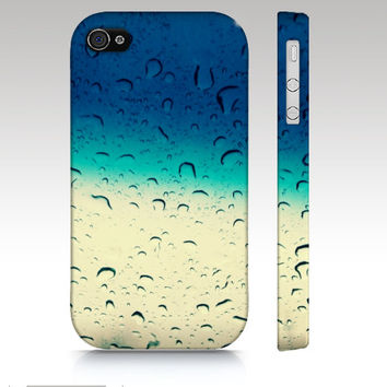 iPhone 4s case, iPhone 4 case, iPhone 5 case, water drops, photo iphone case, photography iphone 4s case, ombre photo art for your phone