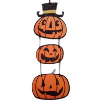 1PC Halloween Three Pumpkins Creative Ornament Hanging Signs Plaque Hanging Props for KTV Bar Halloween House Decoration