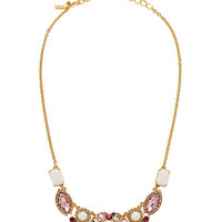 Kate Spade Garden Bed Gems Small Necklace Pink Multi ONE