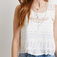 Crocheted-Front Top