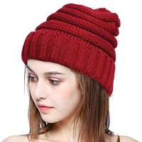 Warm Knit Beanie Hat