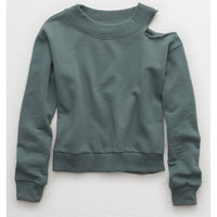 Aerie Cutout Sweatshirt , Palm