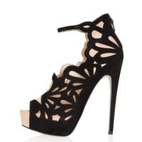 SADIE Lazer Cut Heels - Heels - Shoes - Topshop USA