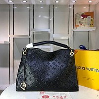 LV Louis Vuitton WOMEN'S MONOGRAM LEATHER ARTSY HANDBAG TOTE BAG