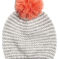 Feeder Stripe Pom Pom Hat