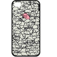 Fashion Zigzag Print Cute Elephant Hard Plastic Case Cover for iPhone 4 4S (I)