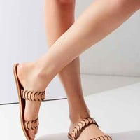 Fiona Leather Woven Double Band Slide