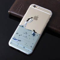 2015 New Mobile Phone Cases For Apple iPhone 6 4.7 inch Marine Animals Plastic Hard Back Cover Capa Para For iPhone 6 Case Sale